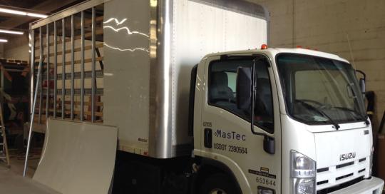 Advanced Collission, LLC Mastec truck